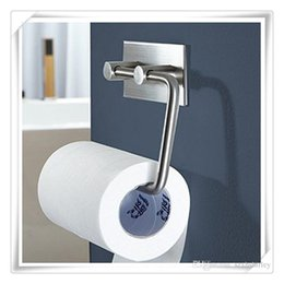 Wholesale Hot Tissue - Hot Toilet Paper Holders 304 Stainless Steel Toilet Storage Bathroom Kitchen Paper Towel Dispenser Tissue Roll Hanger Wall Mount Brushed