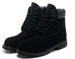 Wholesale Work Boots For Men Waterproof - Top Band Winter Black Boot Fashion Boots Leather Waterproof Men Women boots Work Boot for Camping Hiking Shoes Work Boots 6 color EUR36-46
