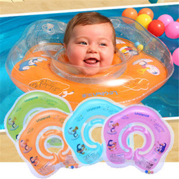 Wholesale Infant Swim Rings - Newest Adjustable Inflatable Circle New Born Infant Swimming Neck Baby Thicker Swim Ring Float Ring Safety Double Protection for 0-18Months