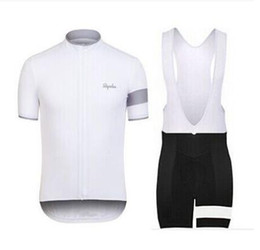 Wholesale Bicycling Bibs - Pro Rapha Cycling Jerseys Sets Bike Suit Bicycle Clothes Breathable Short Sleeves Shirt Bib Shorts Mens Cycling Clothing E1901