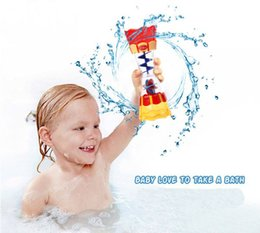 Wholesale Flow Toys - children play in the water baby bath toy scoop water swimming beach rotating cylinder flow observation Cup bathroom infant toy