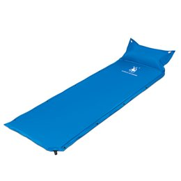 Wholesale Stitch Bedding - In the inventory of single automatic inflatable pad outdoor camping can be stitched double air cushion mattress bed spot wholesale