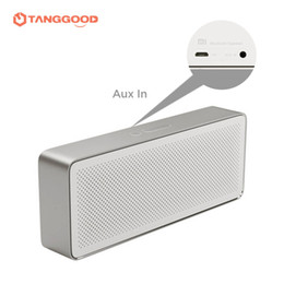 Wholesale Docking Speaker For Iphone - Wholesale- 2017 Original Xiaomi Mi Bluetooth Speaker Square Box 2 Stereo Portable Wireless MP3 Music Player for iPhone Samsung Computer