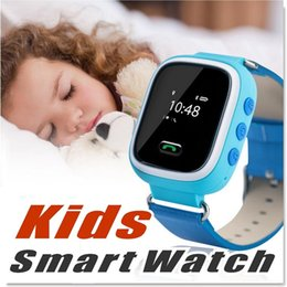 Wholesale Gsm Unlocked Watch Phones - Q523 Kids Smart Watch Phone GPS Tracker Security Monitor Anti-lost SOS Children GPS Wrist Watch Phone GSM Unlocked Quad-band
