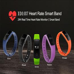 apro smart watch Скидка ID107 Bluetooth Браслет Смарт-Пульса Фитнес-Трекер Звонок Сигнализации Смарт-Браслет Для IOS Android Спортивный Трекер Smartband