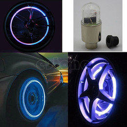 Wholesale Motor Bike Led - Wholesale- New Hot 1 Pair Motor Bike Car Bicycle Tyre Tire Valve LED Bulbs Wheel Lights