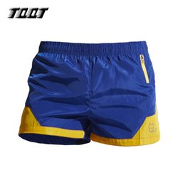 Wholesale Dry Wear Boxers - Wholesale- TQQT mens summer shorts panelled quick dry shorts elastic waist loose breathable boxer shorts gyms wear 3 colors 5P0463