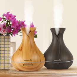 Wholesale Essential Homes - EASEHOLD 400ml Aroma Essential Oil Diffuser Ultrasonic Air Humidifier with Wood Grain 7Color Changing LED Lights for Office Home