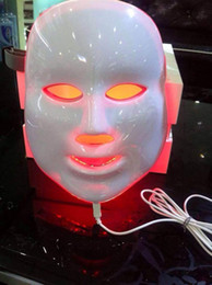 Wholesale Ipl Therapy Led - Free shipping LED Beauty Facial Mask 3 Colors Lights Rejuvenation machines Therapy Photon ipl Skin remove wrinkle acne removal