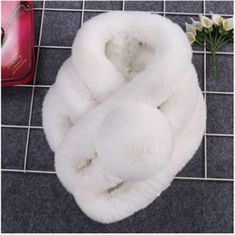 Wholesale Black Rex Rabbit Fur Scarf - The new hair Rex rabbit hair scarf scarf three female in autumn and winter really thick warm fur scarf