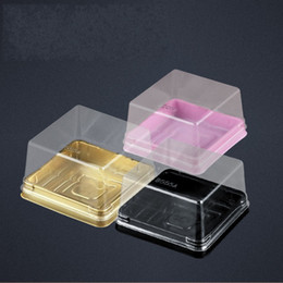 Wholesale Plastic Muffin Boxes - Moon Cake Plastic Box Yolk Bread Biscuits Mini Transparent Packing Plastics Uptake Boxes Muffin Container Food Popular 0 2hl C