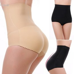 Wholesale Charming Hot Sexy Girls - Wholesale- Hot shaper Girl Charming Sexy Plus Size Ass padded Underwear High waist Women control pants body shaper seamless slimming pants