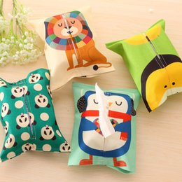 Wholesale Cute Seat Covers For Cars - Wholesale- Creative Stylish Cute Cartoon Elegant Animal Pattern Household Tissue Box Holder Case Cover Napkin for Home Office and Car