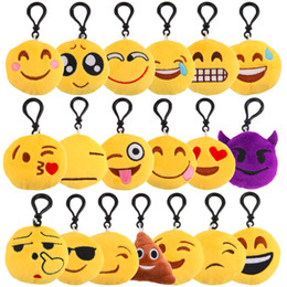 Wholesale Qq Women - Small Facial Expression Multiple Emoticon Amusing Key Chain Toys Gif QQ expression cartoon, Emoji facial expression, mobile phone pendant