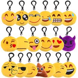 Wholesale Gif Chain - Small Facial Expression Multiple Emoticon Amusing Key Chain Toys Gif QQ expression cartoon, Emoji facial expression, mobile phone pendant