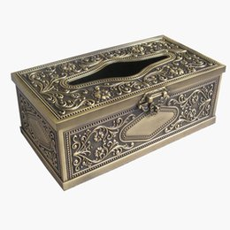 Wholesale Bronze Tissue Holder - Wholesale- Ever Perfect Metal Rectangle Tissue Box Holder For Home Decoration Bronze B051