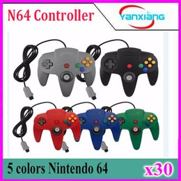 Wholesale N64 Joypad - Classic Retrolink Wired Gamepad joystick for N64 controller special Nintendo N64 Game Console Analog gaming joypad 30 pcs YX-N64-1