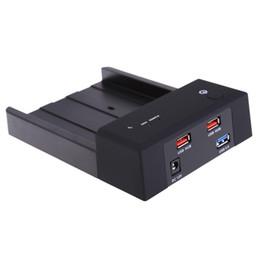 """Freeshipping 2.5 / 3.5 """"USB 3.0 HDD SSD Caixa de Disco Rígido SATA para USB Gabinete de Armazenamento Externo Dual USB2.0 HUB para Notebook Desktop PC de"""