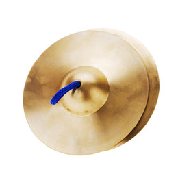 Wholesale Copper Cymbals - Wholesale- 15cm   5.9in Mini Small Copper Hand Cymbals Gong Band Rhythm Percussion Musical Instrument Toy for Kids Children