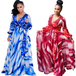 Wholesale Indian Clothing For Women - African Dresses for Women Printing Dashiki Dress Robe Femme Casual Indian Clothing Plus Size Sundress Wholesale Clothes