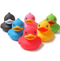 Wholesale Duck Float - Bath Duck Sound Floating Rubber Ducks Squeeze-sounding Dabbling Toy Rubber Duck Classic Toys