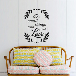 Wholesale Things Packaging - Do Small Things with Great Love Inspiration Quote Decal Wall Sticker Tree Branches Wallpaper Poster Home Office Decor Saying Wall Graphic