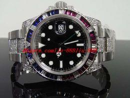 2019 rubine beobachten Edelstahlarmband II 2 40mm Diamant-Rubin-Armbanduhr 7750 Uhrwerk Neues 116710 40MM Automatikwerk MANUHR Armbanduhr günstig rubine beobachten