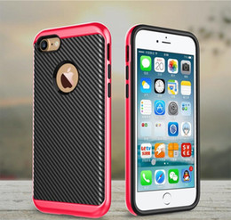 Wholesale Iphone 5s Armor Bumblebee - For iPhone 7 6 6S Plus 6Plus 7plus 5C SE 5 5S 4 4SCarbon Fiber Flexible TPU cover electroplating PC frame Hybrid bumblebee case slim armor