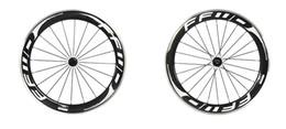 bicicleta de ciclocross de carbono Rebajas Ruedas de bicicleta de carretera FFWD F6R 60 mm blanco negro avance rápido ruedas de carbono superficie de aleación de carbono 3k brillante clincher con ruedas de bujes Powerway