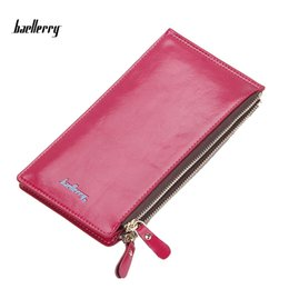 Wholesale Oil Credit Cards - Baellerry New Wallets Oil Wax Fashion Vintage Card Holder Purse Zipper Clutch Coin Purses Multifunctional Women Wallet