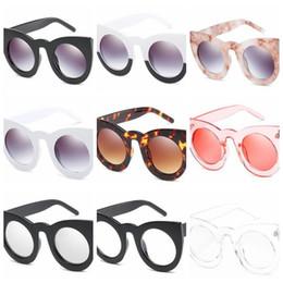 Wholesale Vogue Glasses Frames - 9 Colors Cat Eye Sunglasses Personality Sunglasses for Unisex Big Frame Vogue Glasses European and American Eyewear CCA7847 120pcs