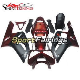 Wholesale Motorcycle Kits - Red Black Fairings For Kawasaki ZX6R 636 2003 2004 03 04 ABS Injection Plastic Motorcycle Fairing Kit Cowlings Body Frames