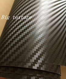 boat stickers Promo Codes - Big Texture 3D Carbon FIBRE VINYL WRAP STICKER Air BUBBLE FREE CAR BIKE   Air release Car   Boat   table Covering size 1.52x30m Roll 5x98ft