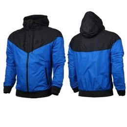 Wholesale Thinnest Fabrics - 2017 New Free shipping Fall thin windrunner Men Women sportswear high quality waterproof fabric Men sports jacket Fashion zipper hoodie
