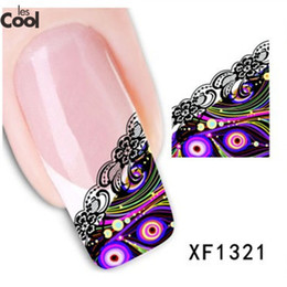 Wholesale Nail 3d Lace Design - Wholesale- 1 Sheets 3D Design Beauty Nail Art Water Transfer Sticker Decal for Manicure French Lace Tips DIY Nail Foils Stamp Tools #XF1321