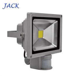 Wholesale Project Lamps - Wholesale- IP65 Waterproof 10W 20W 30W 50W Led Floodlight Outdoor lighting Project Lamp LED Flood light 85-265V PIR Motion detective Sensor