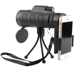 Wholesale astronomical telescope lenses - Day Night Vision 40x60 HD Optical Monocular Hunting Camping Hiking Astronomical Telescope Magnifier 40X Zoom Camera Lens