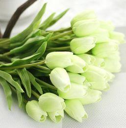 Di alta qualità falso seta artificiale Tulips Flores Artificiales Mazzi di fiori artificiali per la casa decorazione di nozze fiori nuziali da fiori di nozze di tulipani di seta fornitori