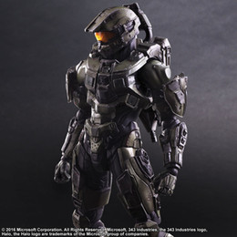 Wholesale Halo Master - Play Arts KAI Halo 5 Guardians No. 1 Master Chief PVC Action Figure Collectible Model Toy 26cm