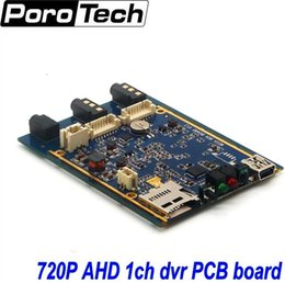 Wholesale Dvr Board Video Card - Wholesale- 1CH Mini AHD XBOX DVR PCB Board 30fps Security Digital Video Recorder Support 128GB SD Card 1pcs free shipping