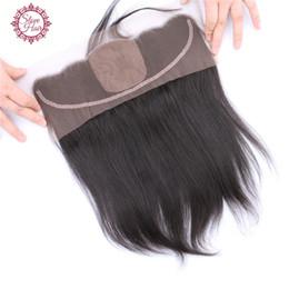 Wholesale Silk Bleach Knot Closure - Brazilian Straight Silk Base Frontal Virgin Hair Free Part Lace Frontal With Baby Hair 13x4 Lace Frontal Closure Bleached Knots