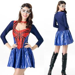 Wholesale Batman Costume Game - Superhero cosplay Dress + Mask costumes Halloween game uniforms temptation Batman performance suits for woman HA191