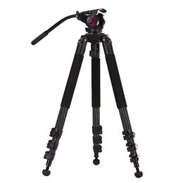 Wholesale Camcorder Tripod Ball - miliboo MTT702B Portable Carbon Fiber Tripod for Professional Camcorder Video Camera DSLR Tripod Stand,with Hydraulic Ball Head