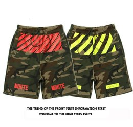 Wholesale Bboy Pants - Mens womens Shorts Camouflage Camo OFF WHITE Pyrex version hipa VIRGIL ABLOH Kanye Hip Hop West casual short pants Bboy streetwear