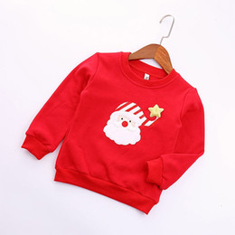 Wholesale Kids Costume Patterns - Wholesale- Costume Clothing Baby Boys Girls Clothes Sweatshirts Autumn Christmas Cartoon Pattern Pullover Winter Warm Children Kids Tops