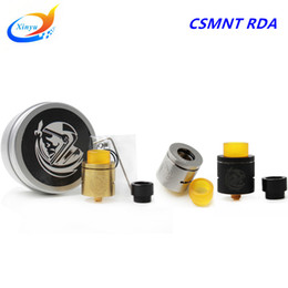 Wholesale Electronic Cigarette Plating - Wholesale- New electronic cigarette CSMNT RDA COSMONAUT RDA Clone Rebuildable Dripping Atomizer 24k Gold plated copper pin delrin drip tip