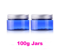 Wholesale Making Shipping Containers - Wholesale 100g PET jars for cosmetic cream Clear cosmetic jar refillable bottle Empty make up containers free shipping#3196