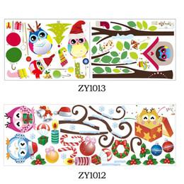 Canada Mignon sage hiboux arbre stickers muraux pour enfants chambres enfants autocollant amovible pvc stickers muraux décoration de la maison autocollant de Noël Offre