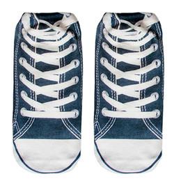 Wholesale Cool 3d Socks - Wholesale- 2 pairs Women Men Unisex Fashion Cool Vivid 3D Printed Patterns Cotton sneakers Anklet Socks Hosiery HIGH QUALITY