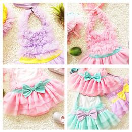 Wholesale Tutu Swimsuits - Korea Baby girl swimwear one piece with hat Tutu skirt 2017 Kids Swimsuit Children Sweet swimsuit set 4 colors beach Free DHL 0-12years